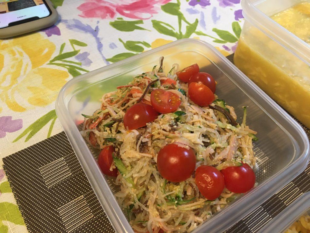 料理教室マンツーマン中華春雨サラダ