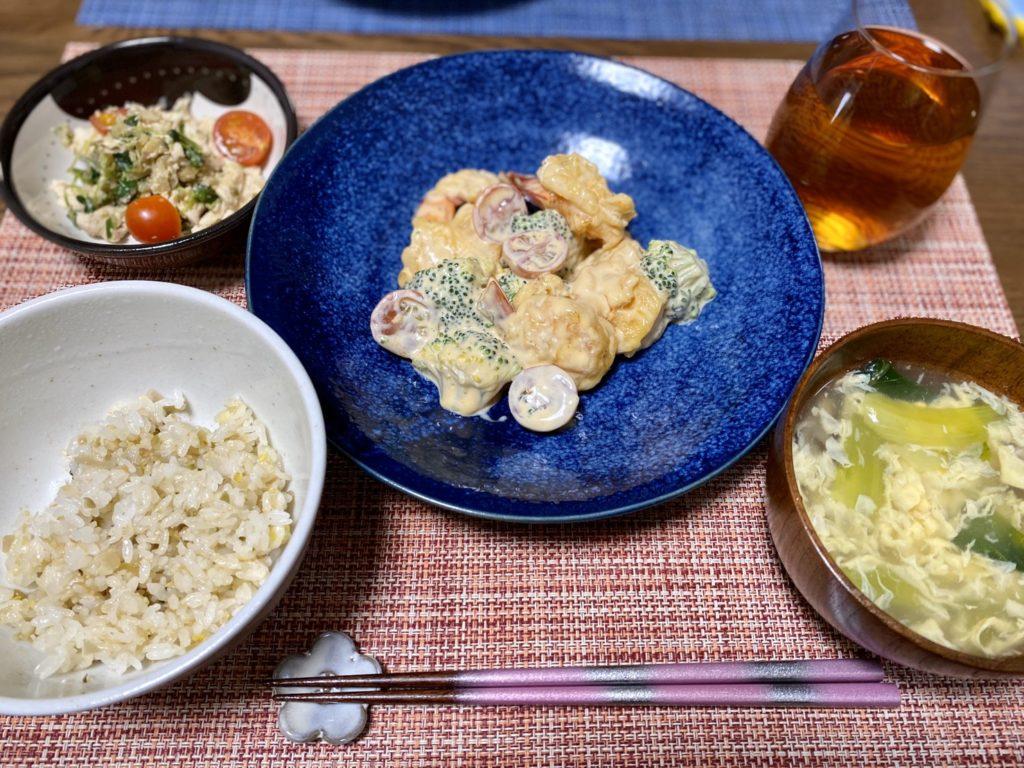 料理教室マンツーマン中華エビマヨ