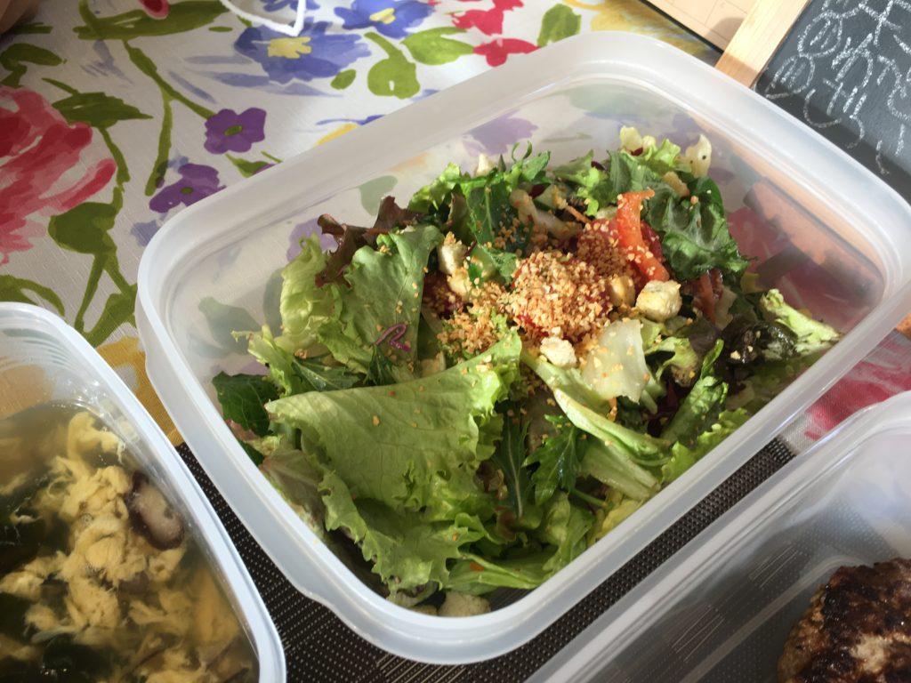 料理教室マンツーマンフライドガーリックサラダ