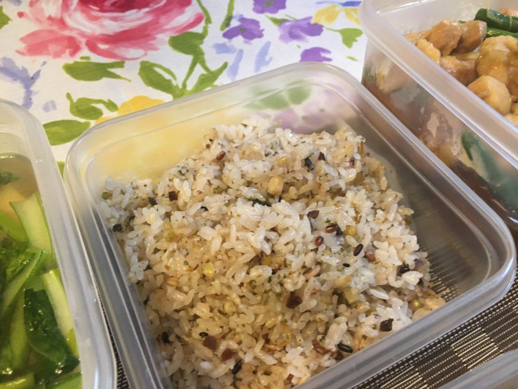 料理教室マンツーマン雑穀米ごはん